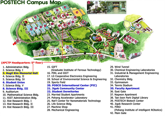 POSTECH Campus Map