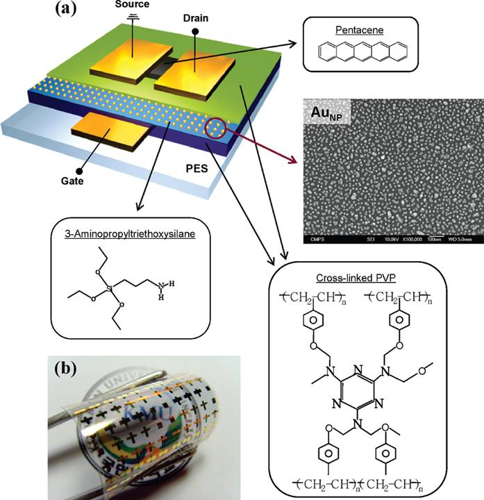 Flexible organic memory devices